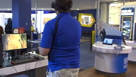 Best Buy Oculus Gift Card - customers try oculus rift for the first time it s incredible to see best