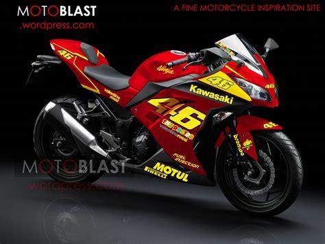 modif striping  kawasaki ninja  fi merah motoblast