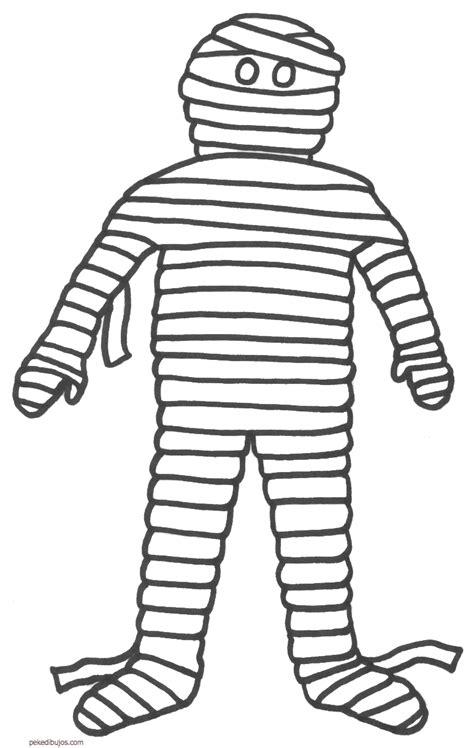Dibujos de momias para colorear