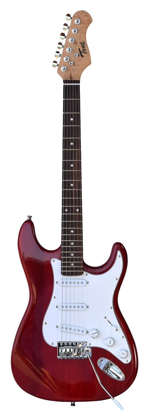 Strat Tone tone strat style electric guitar in transparent