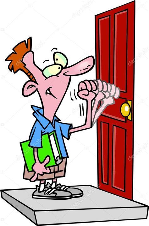 deur tot deur verkoop cartoon deur tot deur verkoper stockvector 169 ronleishman