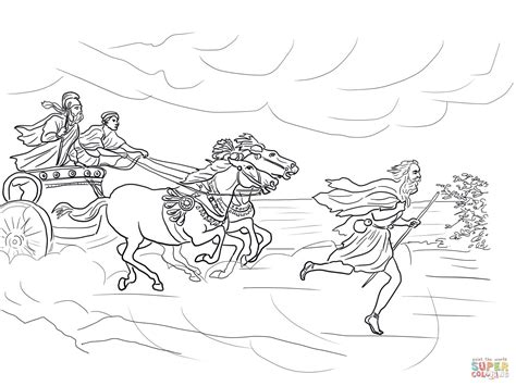 free bible coloring pages elijah elijah runs away from jezebel coloring page free