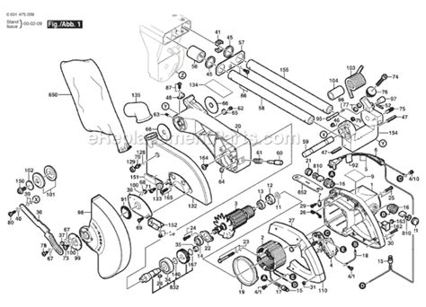 Bosch 3915 Parts List And Diagram 0601475039