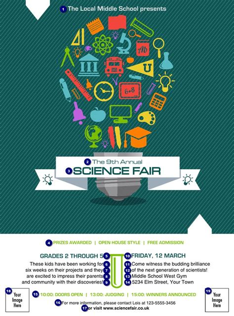 science fair banner template 60 best images about flyer design on brochure