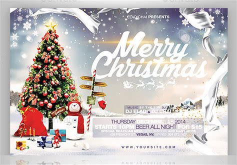 60 Christmas Flyer Templates Free Psd Ai Illustrator Doc Format Download Free Premium 2015 Flyer Card Template