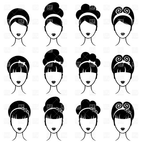 twist hairstyle tools clipart icons retro s hairstyle royalty free vector clip image