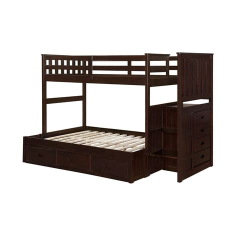 bed frame parts home depot boraam cappuccino twin full size bunk bed 99122 the home