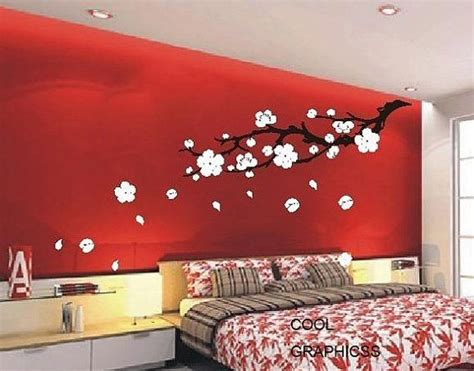 blossoms bedroom plum blossom branch 63 inches vinyl wall decal by