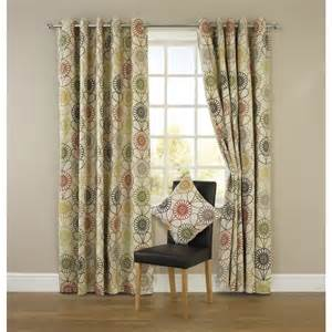 Retro Floral Curtains Wilko Floral Eyelet Curtains Retro Home Floral Curtains And Green