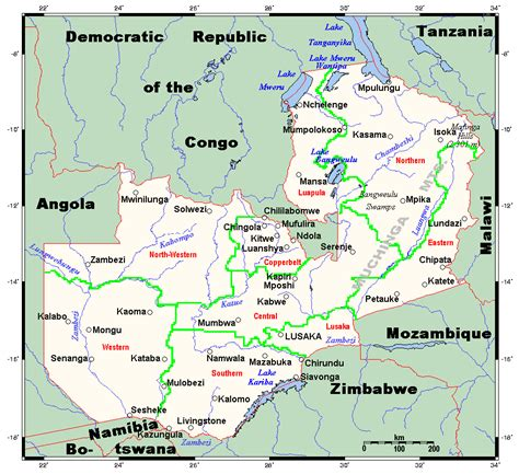 outline  zambia