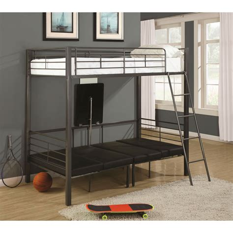 twin over twin convertible loft bunk bed coaster furniture 460264 twin over twin convertible loft bed