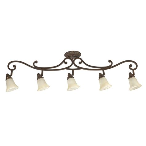 Track Lighting Lowes by Shop Portfolio Lola 5 Light Golden Bronze Fixed Track