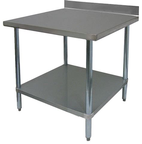 commercial kitchen islands 24 quot commercial duty stainless steel flat top work