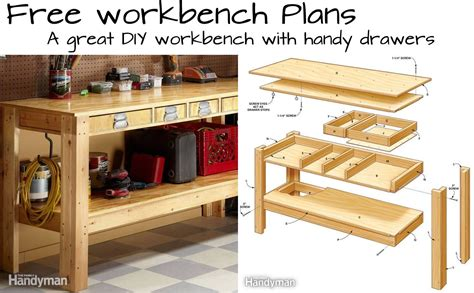 Woodwork Kitchen Designs by Build This Simple Workbench With Drawers Woodwork City