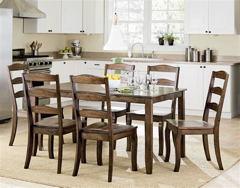 brown dining room set highland brown 7 dining room set 16562 standard