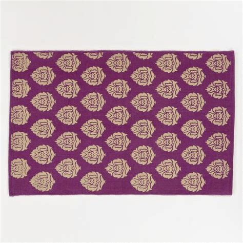 purple and gold rug 2 x3 purple and gold block print dhurrie rug world market