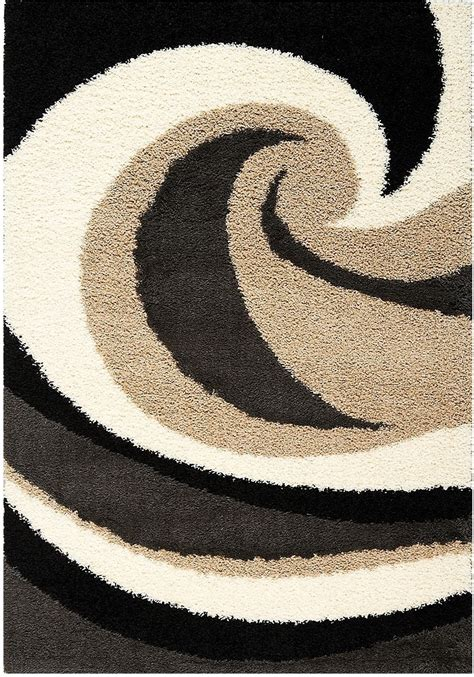 black and brown area rugs shaggy black brown and area rug 5 x 8 united furniture warehouse