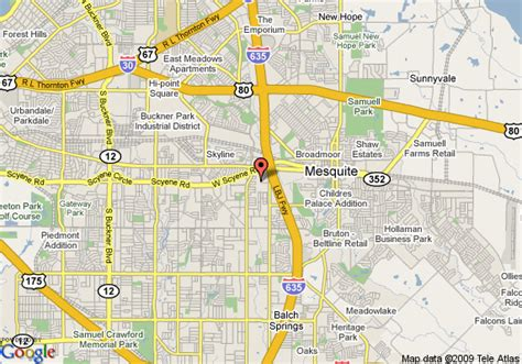 mesquite texas map map of hton inn and suites dallas mesquite mesquite