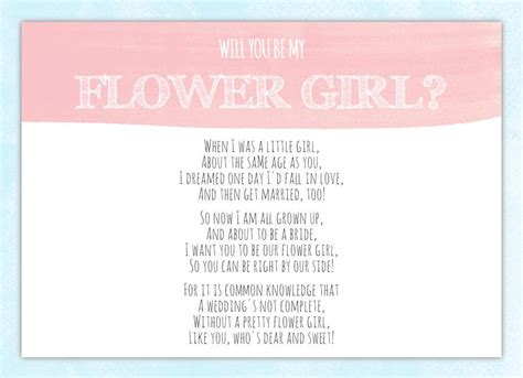 will you be my poems will you be my flower card flower invitation