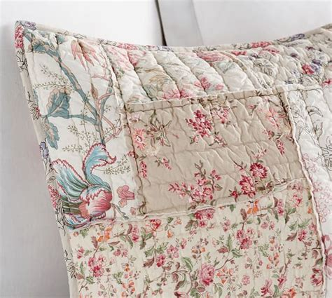 Pottery Barn Patchwork Quilt - madelyn reversible floral patchwork quilt sham pottery