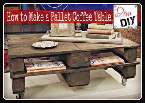 how to make the pallet coffee table