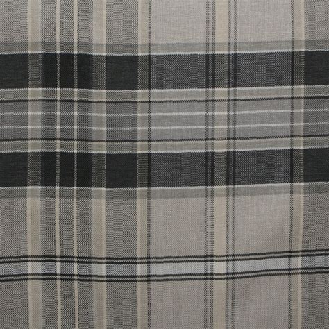 designer upholstery designer discount linen look tartan check plaid curtain