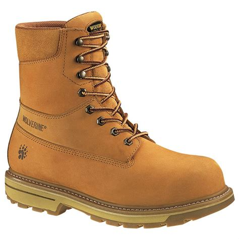 wolverine s boots s wolverine 174 8 quot waterproof steel toe eh 400 gram boots