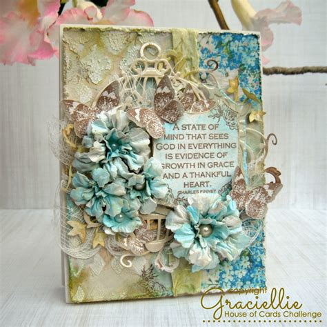 a shabby chic spring card house of cards graciellie design