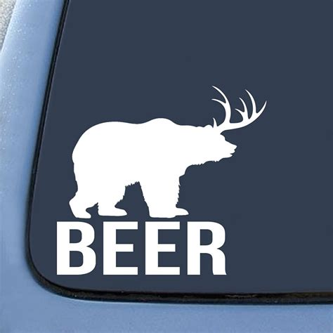 Witzige Aufkleber by Bear Deer Beer Funny Sticker Decal Notebook Car Laptop