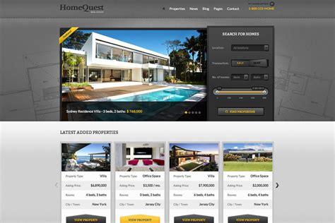 Wordpress Free Themes Quest | real estate wordpress theme website templates home quest