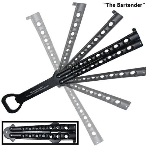 butterfly knife bottle opener bottle opener butterfly knife black