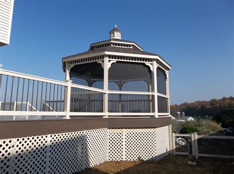 The Circular Dining Room Decks With Gazebos Gazebo With Deck Builder In Lancaster