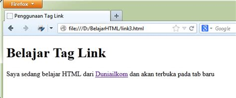 membuat hyperlink di notepad cara membuat hyperlink pada html anas tkj