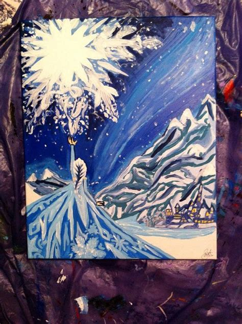 frozen painting acrylic canvas 16x20 elsa do you want to build a snowman let it go