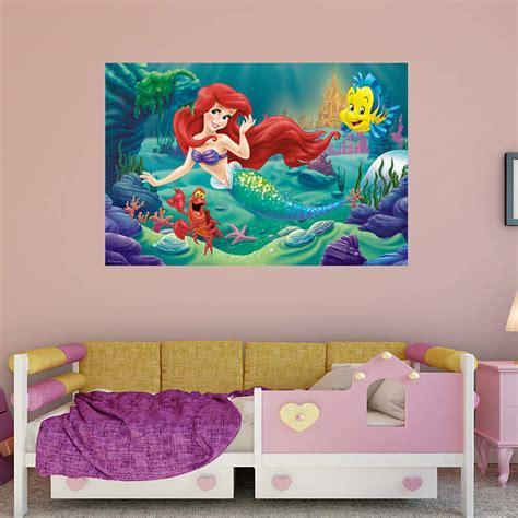 mermaid wall mural the mermaid mural wall decal shop fathead 174 for
