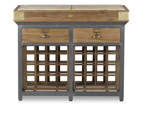 Kitchen Island With Wine Storage Chef S Kitchen Island With Wine Racks