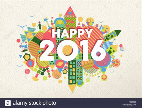 happy new year interesting design happy new year 2016 retro colorful design with