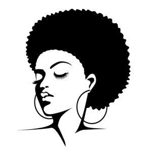afro hairstyles vector clip art http www pic2fly com afro silhouette clip art