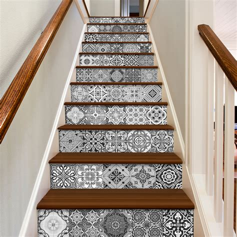 Stick On Backsplash Tiles by Escalier D 233 Calcomanies Carreaux Portugais Pack Avec 48