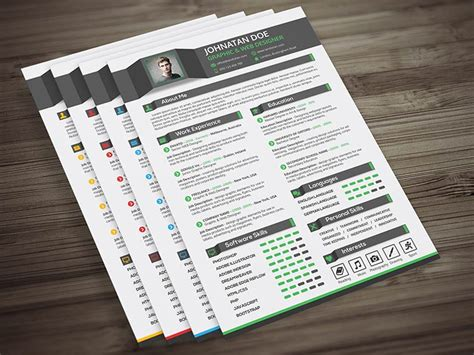 Resume Portfolio Template by Creative Resume Cv Cover Letter Portfolio Psd Template