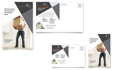 publisher template card modern contemporary modern real estate postcard template word