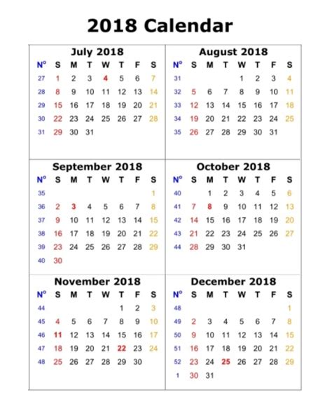 printable calendar 2018 in one page 6 month one page calendar 2018 calendar 2018