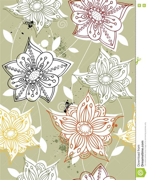 Cd Seamless Flower 3d seamless flower background royalty free stock photography