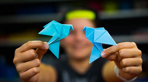 Paper Dove Origami - how to fold an origami dove for hub