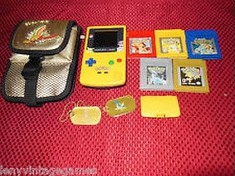 Gbc My Rajut Blues sealed blue and silver special edition pikachu gameboy color ups