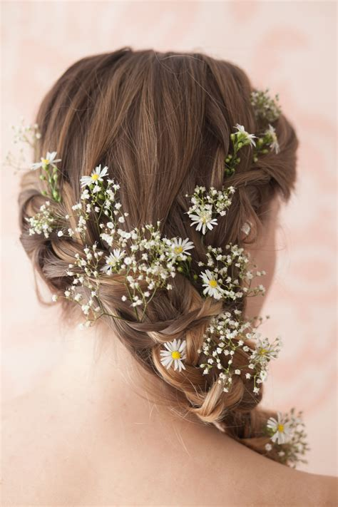 Wedding Hairstyles With Gypsophila by And Gypsophila Hair Details