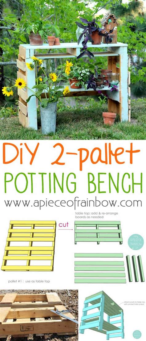 how to make a potting bench make a two pallet potting bench a piece of rainbow