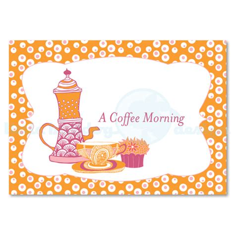 Personalised Coffee Morning Invitations 10 Car Folksy Coffee Morning Invitations Templates