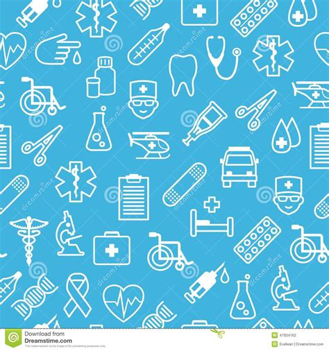 icon pattern background free medical icons seamless background in flat style stock