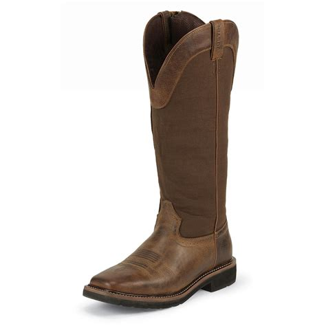 snake boots s justin 17 quot stede waterproof snake boots